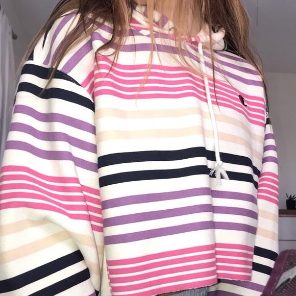 5f619109 Champion Tops | Brand New Striped Hoodie | Poshmark